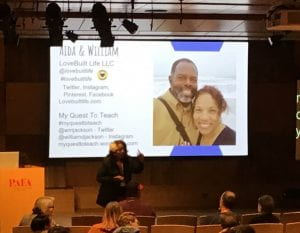 WordCamp Philly 2019 Aida Correa providing closing remarks