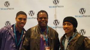 WordCamp Philadelphia 2016 Josh, Prof. Jackson and Jon our first WordCamp Philly
